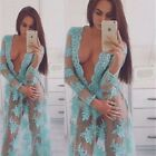 Women Sexy Formal Lace Party Cocktail Evening Prom Wedding Long Maxi Dress NEW T