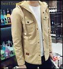 Hot Sale Mens Jacket waist Coats Hooded Autumn Coats Spring Cool Coats Plus Size