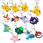 Pokemon Go Team Silicone Cartoon Comic Keychain Key Rings Gift New 13 Styles
