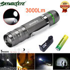 Sky Wolf Eye 3000LM 5 Mode CREE XML T6 LED Zoomable Flashlight  Battery Charger