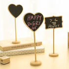 Wood Heart Rectangle Blackboard Wedding Party Card Memo Message Label Decorative