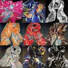 Fashion Women's Colorful Georgette 100% Silk Long Scarf Butterfly Shawl Wrap