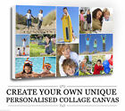 Your Photo/Picture  PERSONALISED COLLAGE CANVAS A4 A3 A2 A1 A0 320gsm 30mm FRAME