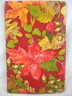 Assorted Sizes Maroon Red Autumn Foliage Fall Leaves Vinyl Tablecloth FREE SHIP