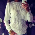Winter Fashion Women Ladies O-Neck Long Sleeve Pullover Slim Sweater Blouse
