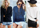 Fashion Women's Ladies Summer Loose Tops Long Sleeve Shirt Casual Blouse T-Shirt
