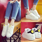 New Girl's Women's Casual Leather Shoes Flat Lace Up Sports Fashion Sneaker