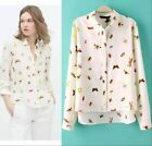 Women ladies long sleeve spring loose casual Plus shirts blouse spring tops