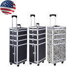 Pro 4in1 Interchangeable Aluminum Rolling Cosmetic Makeup Case Train Box Trolley