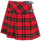 "Tartanista Wallace Scottish 16.5"" Mini Kilt Skirt Leather Straps & Free Pin"