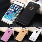 3D Fashion Senior Ultra-thin Metal Back Cover Case skin For Apple iPhone Mobile