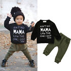 2PCS Kids Baby Toddler Boy Clothes Set T-shirt Tops Pants Leggings Outfits