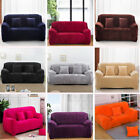 Soft Flannel Stretch Sofa Couch Slip Covers Winter Protection 1 2 3 4 Seater