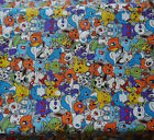 Pokemo Cotton cavan Fabric for tablecloth DIY Throw Pillow Curtain 45x145cm