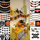 Spider Pumpkin Scary Witch Garland Halloween paper Decoration Prop