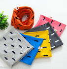 FL Baby Scarf Moustache Pure Color Kids Neckerchief Cotton Winter Scarves Collar