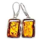 """Baltic Amber 925 Sterling Silver Earrings 1 3/4"""" Ana Co Jewelry E328455 F"""