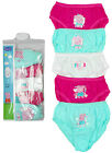 Girls Peppa Pig Hearts Pack of 5 Briefs Knickers Underwear 12 Months to 4 Years