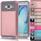 Hybrid Armor Hard Case Cover +Glass Film Screen Protector For Samsung Galaxy On5