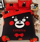2016 New Kumamon Bedding Set 4pc Queen King Size Red Cotton RARE