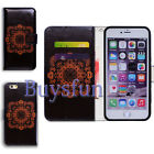 Bcov Elephant Wolf Flower Christmas Flip Leather Cover Case For iPhone 4 5 6 7