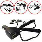 IPHONE 4/5/MICRO USB 3IN1+TWIN USB CAR CHARGER 2.1A FOR VARIOUS SMARTPHONES