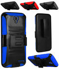 For ZTE Warp 7 Grand X 3 N9519 Hybrid Side Kickstand Holster Clip Cover Case