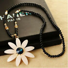 New Fashion Sun Flower Chain Pendant Necklace Lady Charm Sweather Chain Jewelry