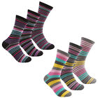 Cottonique Ladies Cotton Rich Striped Socks 4-8