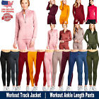 New Women Active Wear Zip Up Sports Gym Yoga Workout Long Sleeve Top Jacket USA