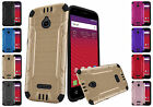 For Alcatel Dawn STREAK Ideal Acquire Combat Brushed Metal Design Cover Case