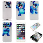 Cartoon Stitch Transparent Hard Shield Bumper Cover Case For iPhone 7 7 Plus