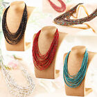 Multi Layer Chain Long Necklace Seed Beads Parsonalised Fashion Jewelry Womens