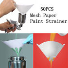 50/100x 100 Mesh Paper Nylon Paint Strainer Filter Purifying Cones Straining Cup