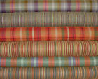 Wool Effect Thick Tartan Check And Ticking Stripe Upholstery Curtain Fabric
