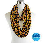 HALLOWEEN PUMPKINS ALL OVER INFINITY SCARF JERSEY CHIFFON FASHION LOOP SCARVES