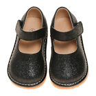 Girl Sparkle Mary Jane Squeaky Shoes Black Toddler Size 1-7