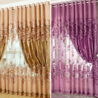 Peony Pattern Voile Curtains Living Room Window Curtain Tulle Sheer Curtains JR