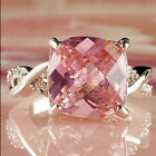Elegant Crystal Ring Especial Jewelry Topaz White Tourmaline Gemstone Silver NEW