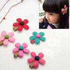 1/5/10Pcs Baby Hair Clip Cute Flower Headwear Kids Girl Candy Color BB Hairpins