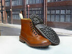 "Tricker's size 8 1/2 Marron ""Stow"" Country Brogue Boot on a Commando Sole"