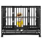 BestPet Commercial Quality Heavy Duty Pet Dog Cage Crate Kennel w/Wheels
