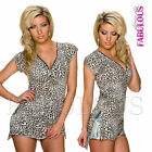 New Sexy Women's Ladies Leopard Animal Print Summer Top Shirt Size 8 10 12 S M L
