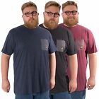 Kangol Plus Size Mens Casual Marl T-shirt Short Sleeve tee Pocket sizes 2XL- 5XL