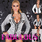 NEW SEXY WOMEN'S JUMPER JACKET CARDIGAN KNITTED TOP Size 10 12 14 8 S M L XL