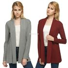 Fashion Womens Long Sleeve Casual Jacket Blazer Coat Cardigan Outwear tops EN24H