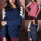 Sexy Womens Ladies Long Sleeve Tops Pullover Off Shoulder Blouse T-Shirt Tee