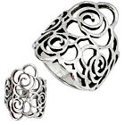 925 STERLING SILVER ROSE FLOWER RING JEWELRY SIZE 5.5 B1155