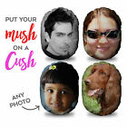 PERSONALISED MUSHCUSH FACE CUSHION ROUND PHOTO FACE CUSHION L&S PRINTS