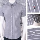 Get Up Button Down Pocket Tag S/S Smart Style Shirt Grey